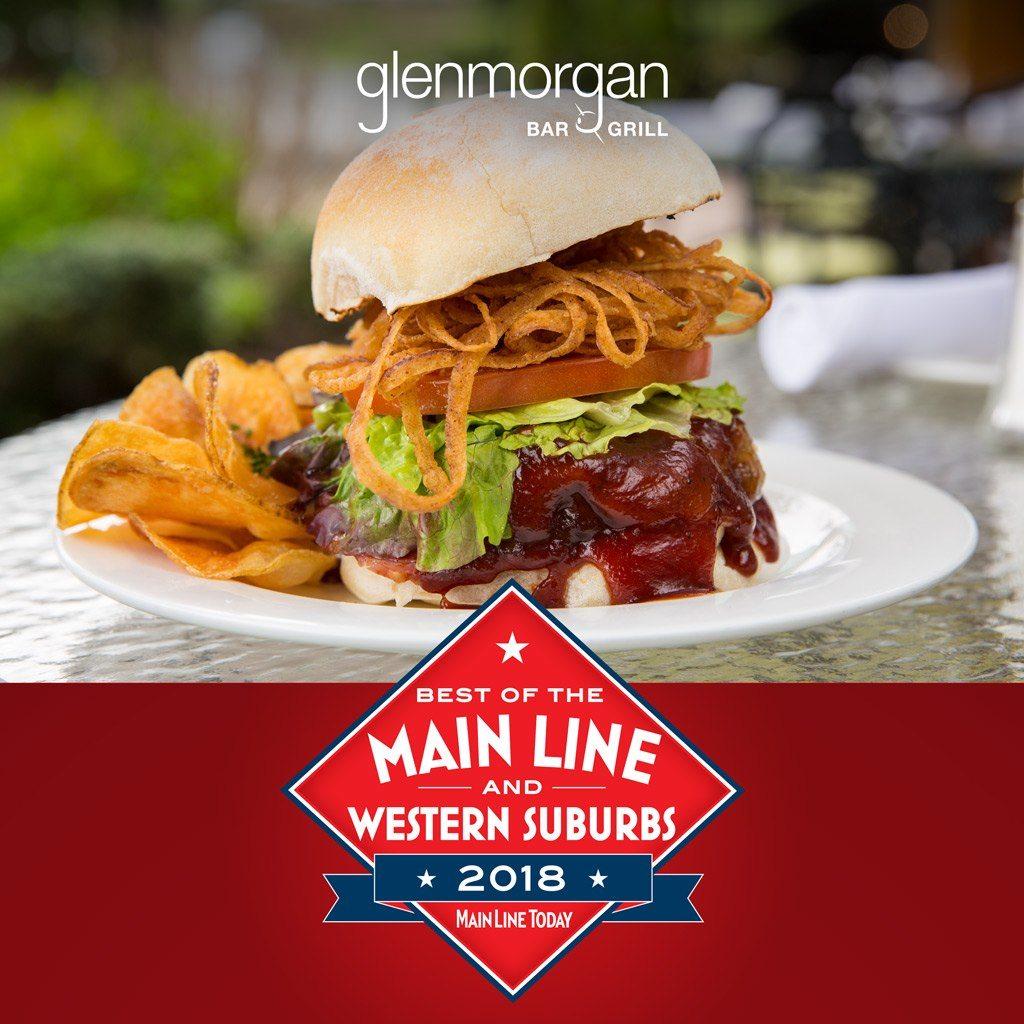 Main Line Today Best of the Main Line & Western Suburbs 2018, Best Burger, Glenmorgan Bar & Grill